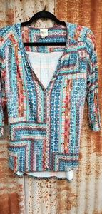 Anthropologie multi colored top